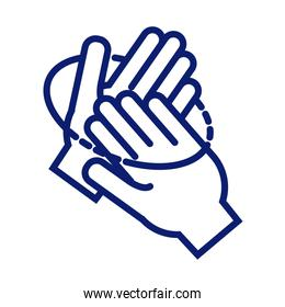 hands washing circularly line style icon