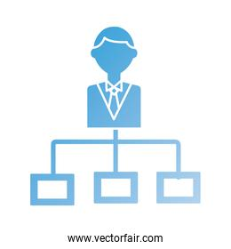 businessman leader silhouette style icon