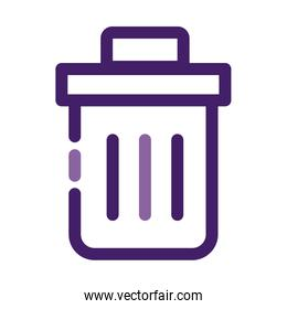 garbage pot waste line style icon