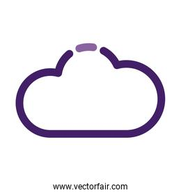 cloud computing server technology line style icon