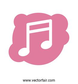 music note sound block style icon