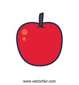 fruits and vegetables concept, apple icon, line and fill style