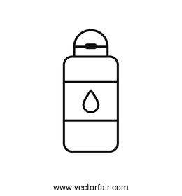 medical antibacterial bottle icon, line style