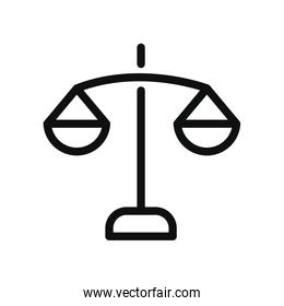 law scale icon, line style
