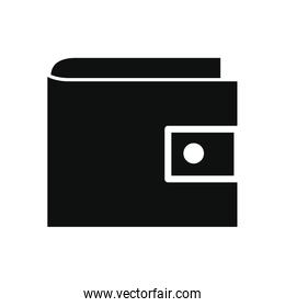 wallet icon, silhouette style