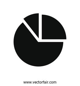 graphic pie chart icon, silhouette style