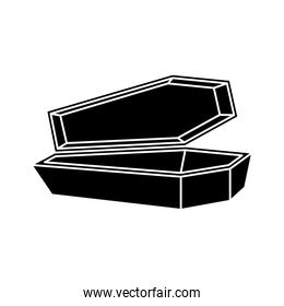 halloween coffin spooky isolated icon