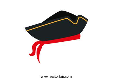 hat pirate traditional isolated icon
