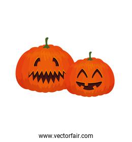 halloween pumpkins traditional isolated icon