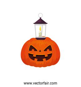 halloween pumpkin traditional with lamp