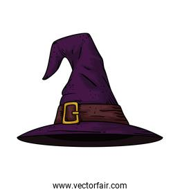hat of witch halloween style pop art