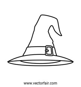 hat of witch for halloween isolated icon