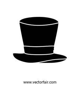 hat top wizard isolated icon
