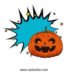 halloween pumpkin pop art style