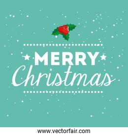 merry christmas poster with lettering