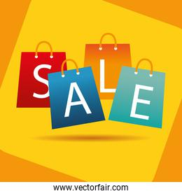 set bags shopping with sale lettering