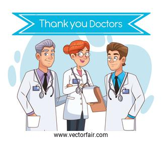 professionals doctors staff avatars characters