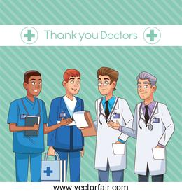 professionals doctors avatars characters icons