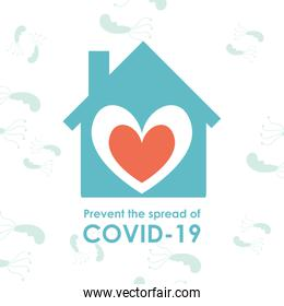 Stay home and prevent the spread of Covid 19 virus vector design