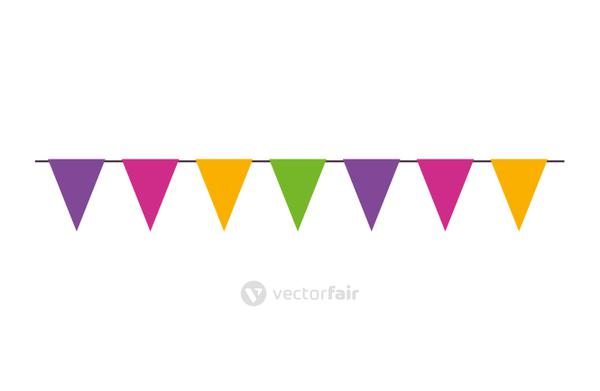 garlands hanging decoration isolated icon