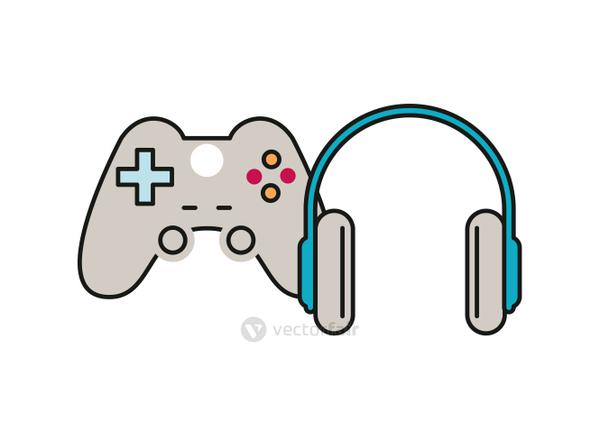 video game portable device with earphones