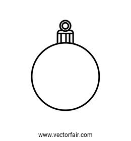 ball christmas decoration line style icon