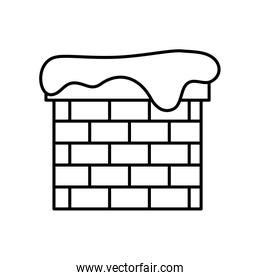 chimney with snow line style icon