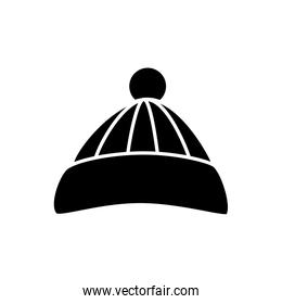silhouette of hat winter accessory isolated icon