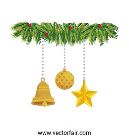 ball with set decorations christmas hanging