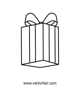 gift box surprise linear style isolated icon
