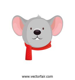 face of mouse merry christmas character