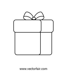 gift box present of line style icon