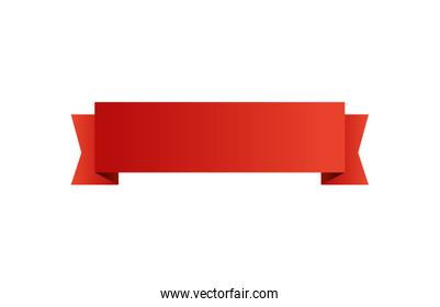 ribbon decoration red isolated icon