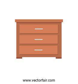 wooden drawer furniture isolated icon