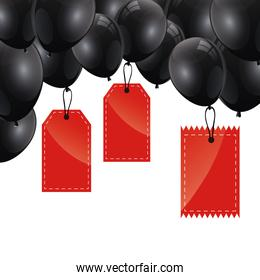 tags commerce with balloons helium
