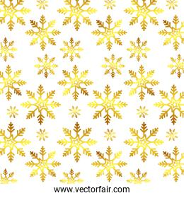 pattern of snowflakes golden christmas