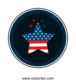united states flag in star shape