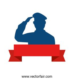 silhouette of man soldier american avatar character