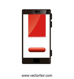 smartphone with web page isolated icon