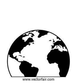 world planet earth line style icon