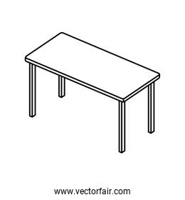 table rectangle furniture line style icon