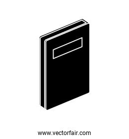 silhouette of notebook diary document isolated icon