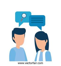 Isolated corporate businesspeople vector design