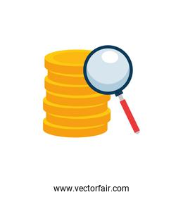 Isolated coins icon vector design
