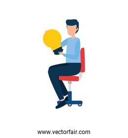 Isolated businessman avatar vector design