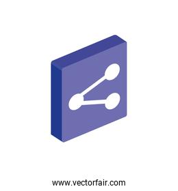 Isolated isometric share icon vector design