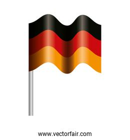 Isolated germany flag vector design