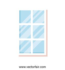 windows glass house isolated icon