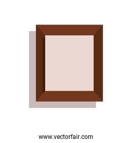 wooden portrait picture isolated icon