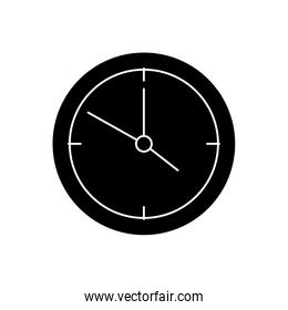 silhouette of clock wall time isolated icon
